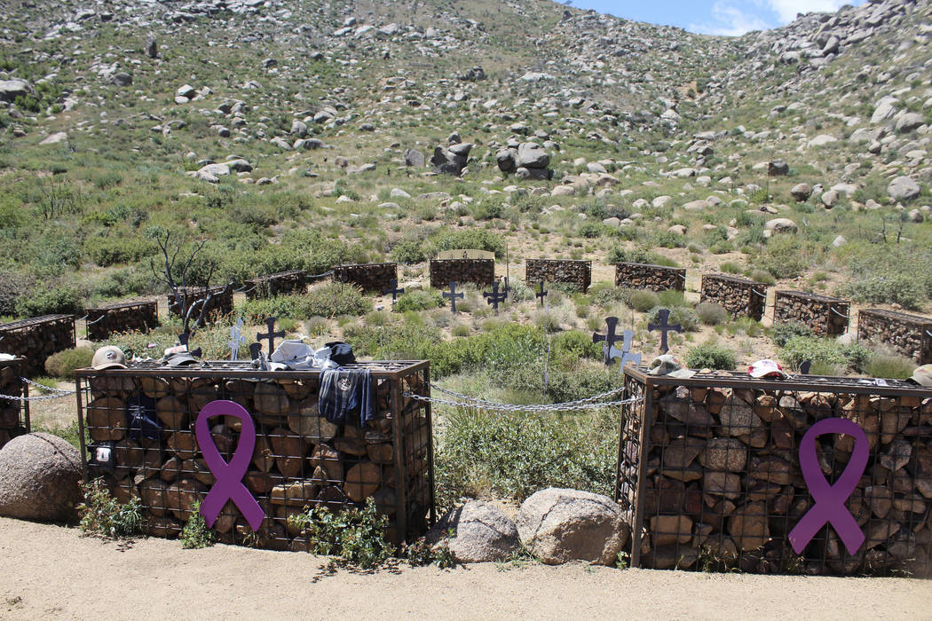 The site where 19 firefighters, known as the Granite Mountain Hotshots, died while fighting one of the deadliest wildfires in the state, at the Granite Mountain Hotshots Memorial State Park in Yar ...