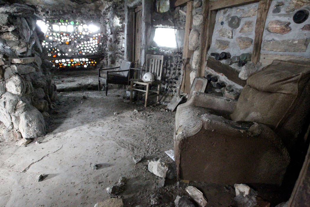 A room in the main structure and living quarters at Nevada historical site Thunder Mountain Monument near Imlay Tuesday, April 10, 2018. K.M. Cannon Las Vegas Review-Journal @KMCannonPhoto