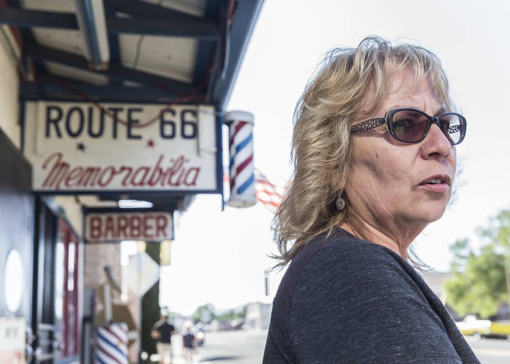 Myrna Delgadillo outside Delgadillo's Route 66 Gift Shop on Wednesday, May 16, 2018, in Seligman, AZ. Benjamin Hager Las Vegas Review-Journal @benjaminhphoto