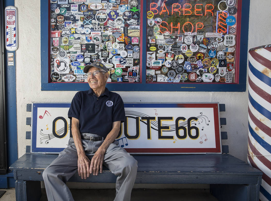 Angel Delgadillo, 91, known as the Angel of Route 66, on Thursday, May 17, 2018, at Delgadillo's Route 66 Gift Shop, in Seligman, AZ. Benjamin Hager Las Vegas Review-Journal @benjaminhphoto