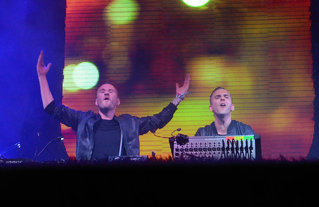 Galantis performs at the 2014 Coachella Music and Arts Festival on Saturday, April 12, 2014, in Indio, Calif. (Photo by Scott Roth/Invision/AP)