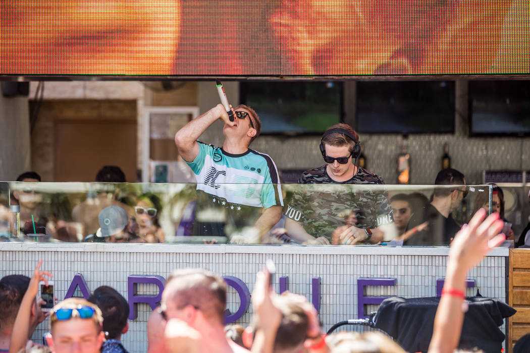 Tritonal at Marquee Dayclub (Andrew Dang)