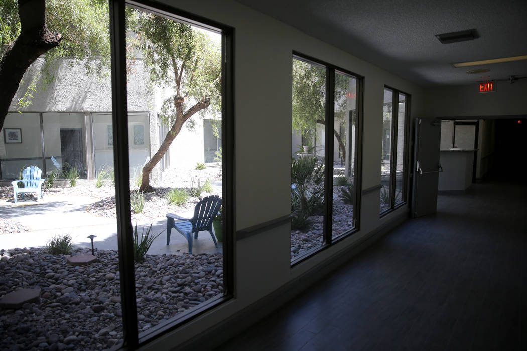 The courtyard at CrossRoads of Southern Nevada psychiatric urgent care facility at 2121 W. Charleston Blvd. in Las Vegas Wednesday, June 6, 2018. K.M. Cannon Las Vegas Review-Journal @KMCannonPhoto