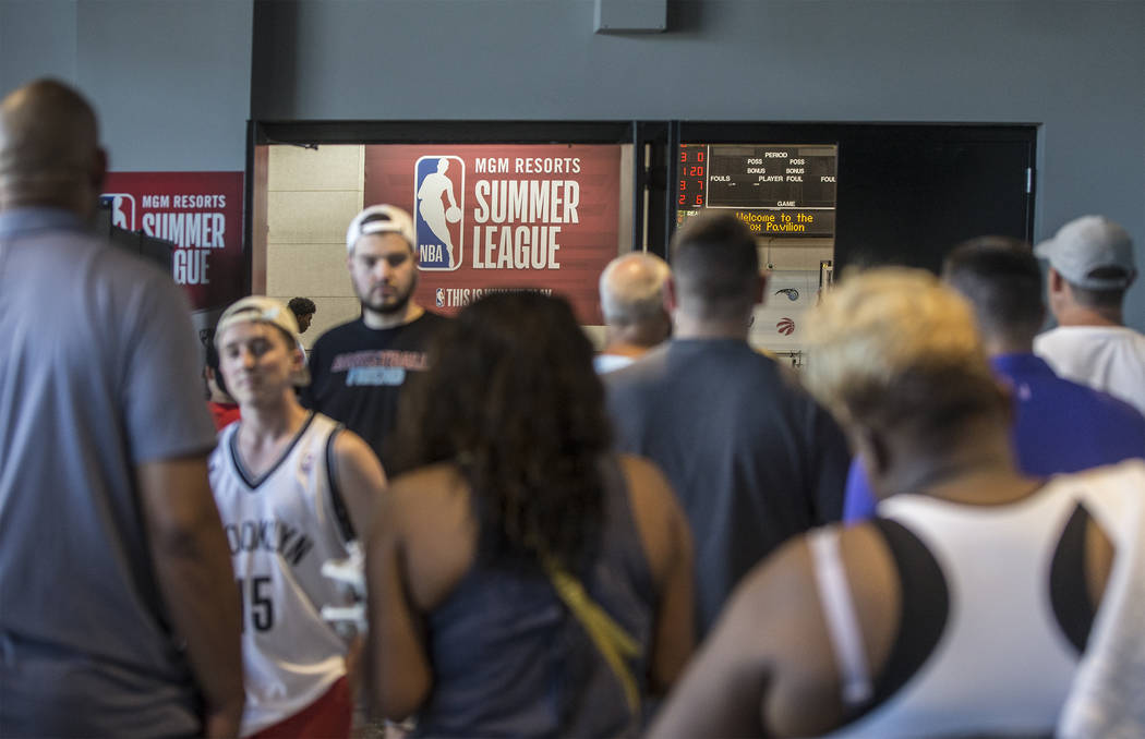 NBA Summer League on Friday, July 6, 2018, at the Thomas & Mack Center, in Las Vegas. Benjamin Hager Las Vegas Review-Journal @benjaminhphoto