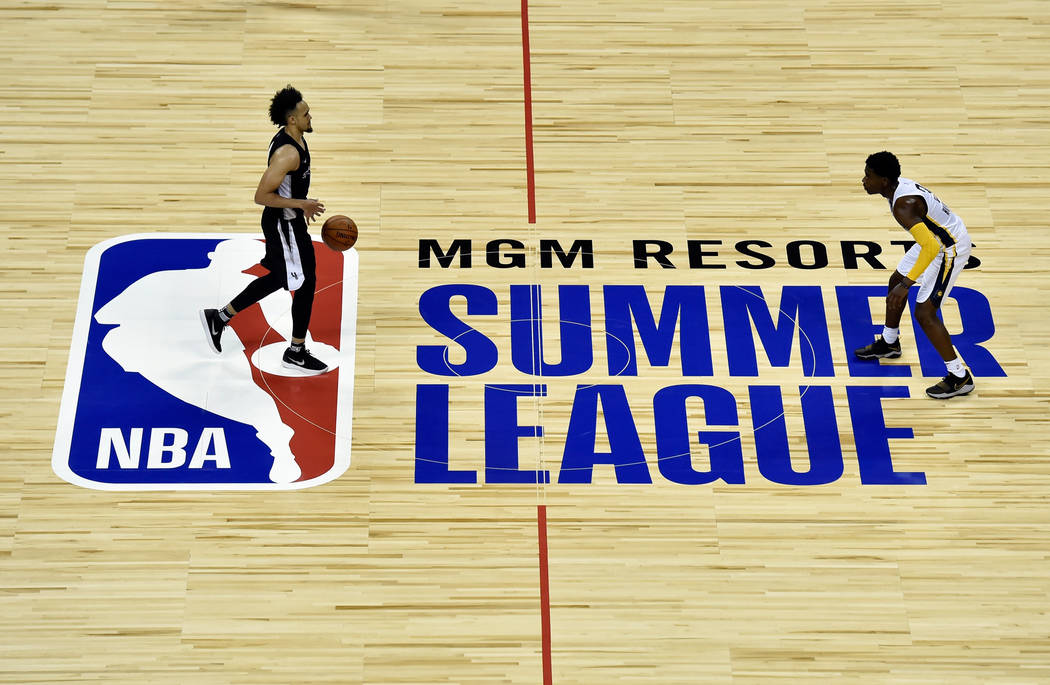 A general view of the Thomas & Mack Center during an NBA summer league basketball game between the San Antonio Spurs and Indiana Pacers Saturday, July 7, 2018, in Las Vegas. David Becker/Las V ...