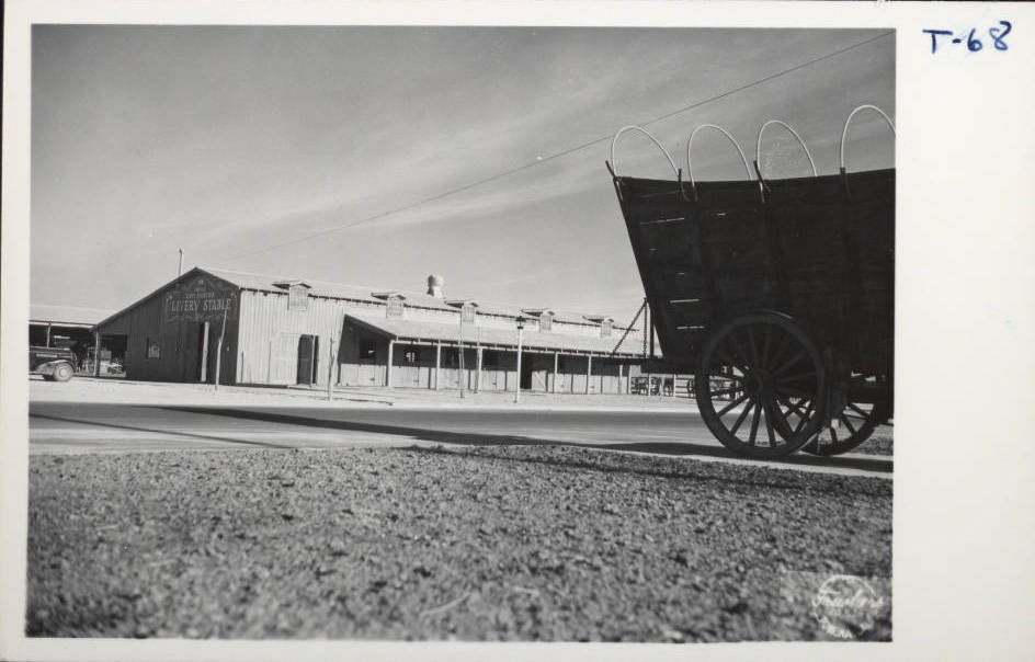 Digital ID pho000776 Title Postcard of the Las Frontier Hotel, Las Vegas, circa 1945 Group Creator Frashers Inc. Description Photograph of the Livery Stable at the Last Frontier Hotel and Casi ...