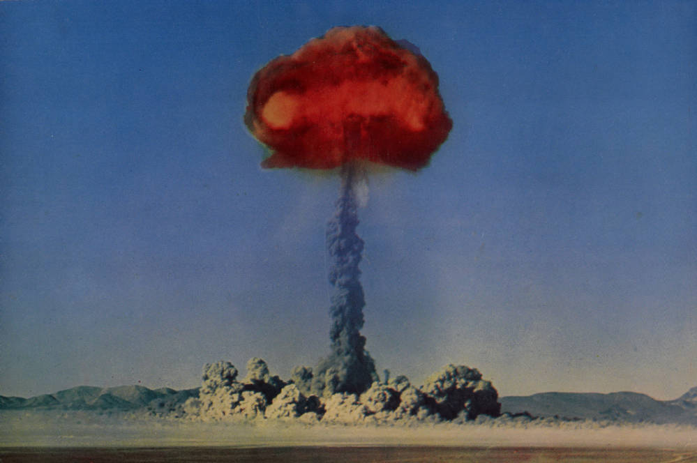 Digital ID pho003251 Title Postcard of an atomic explosion, Nevada, circa 1950s Group Creator Desert Supply Company Mike Roberts Color Productions Description Photograph of an atomic explosion ...