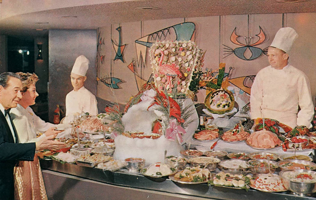 Postcard of the Chuck Wagon Buffet at the Flamingo Hotel, Las Vegas (Nev.), 1950s