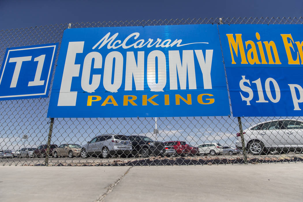 The Economy Parking Lot at McCarran International Airport on Thursday, June 28, 2018, in Las Vegas. Benjamin Hager Las Vegas Review-Journal @benjaminhphoto