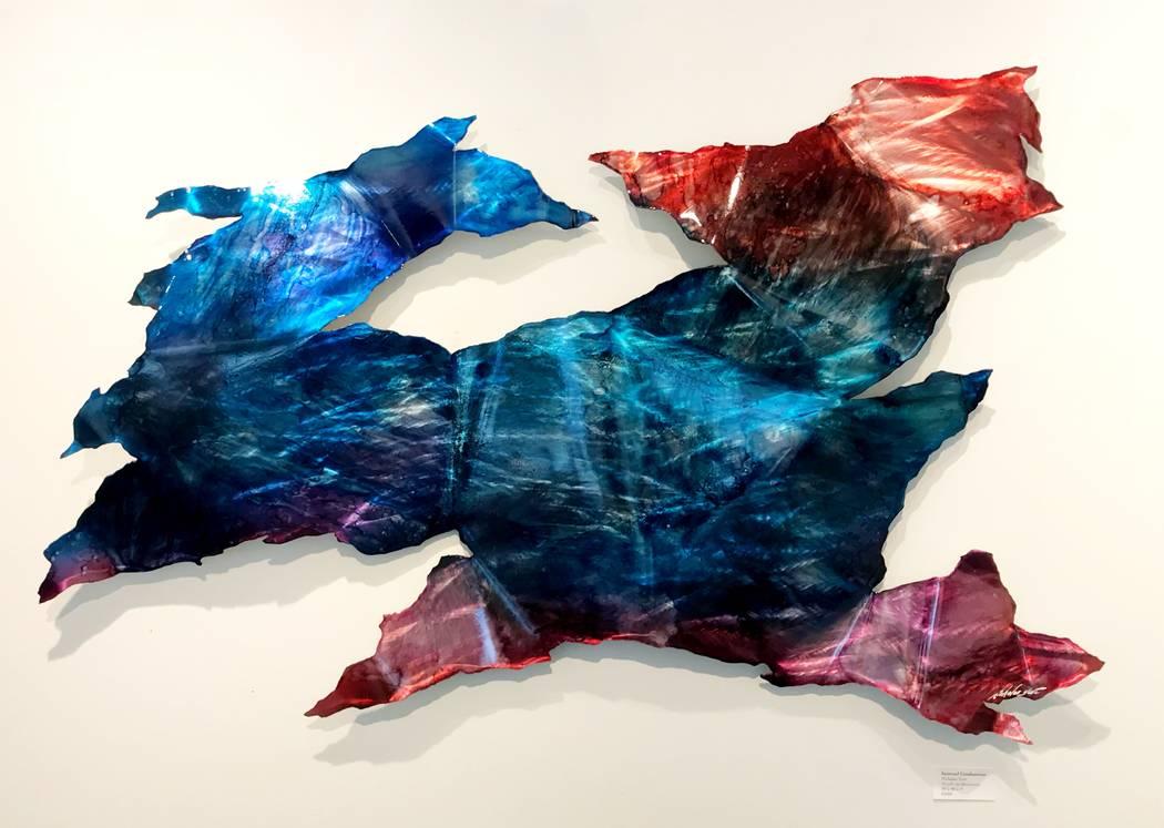 """Cosmic Rush,"" by Cincinnati-based metal sculptor Nicholas Yust, who'll be at Wyland Gallery July 6-7."
