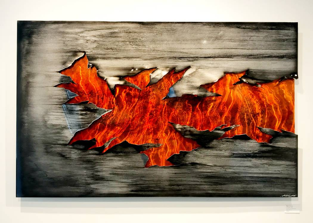 """Inner Fire"" by metal artist Nicholas Yust, who's visiting Wyland Gallery Friday and Saturday, July 6-7."