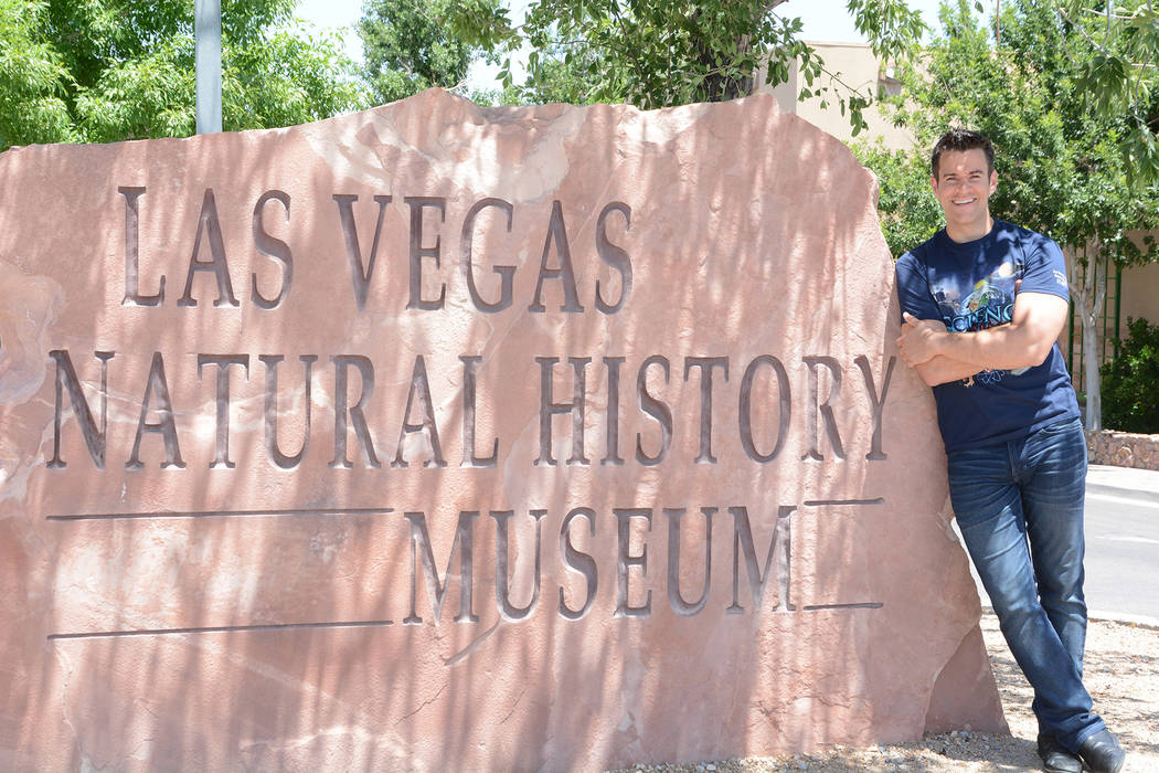 "Jeff Civillico, the star of ""Comedy in Action"" at Paris Las Vegas, will spread the word about the Las Vegas Natural History Museum. TML Photography"