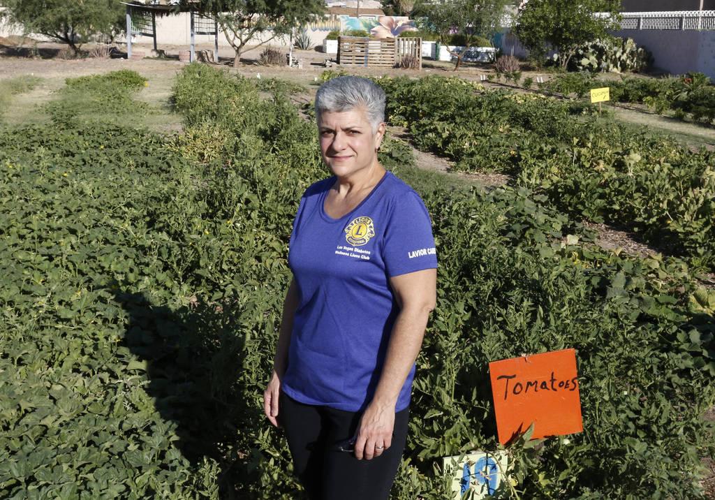 Dr. Denise Tropea poses for photo at Vegas Roots Community Garden on Friday, June 29, 2018, in Las Vegas. Bizuayehu Tesfaye/Las Vegas Review-Journal @bizutesfaye