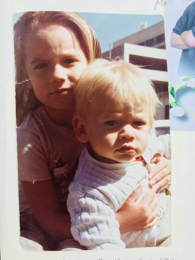 A photo of Lalani Blackburn-Bill and her younger brother, Michael Blackburn, in June 1982, before they were taken away from their parents. Photo courtesy of Michael Blackburn.