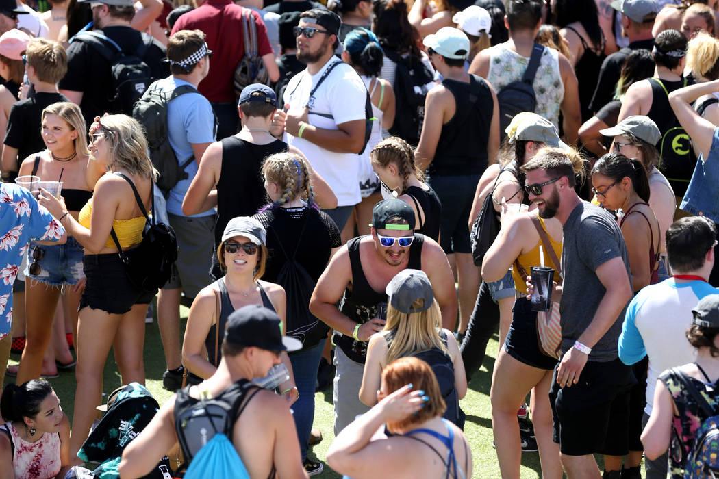 Fans mingle during Warped Tour at Downtown Las Vegas Events Center on Friday, June 29, 2018. K.M. Cannon Las Vegas Review-Journal @KMCannonPhoto
