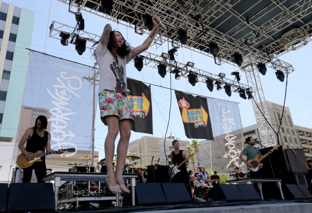 Mayday Parade performs during Warped Tour at Downtown Las Vegas Events Center on Friday, June 29, 2018. K.M. Cannon Las Vegas Review-Journal @KMCannonPhoto