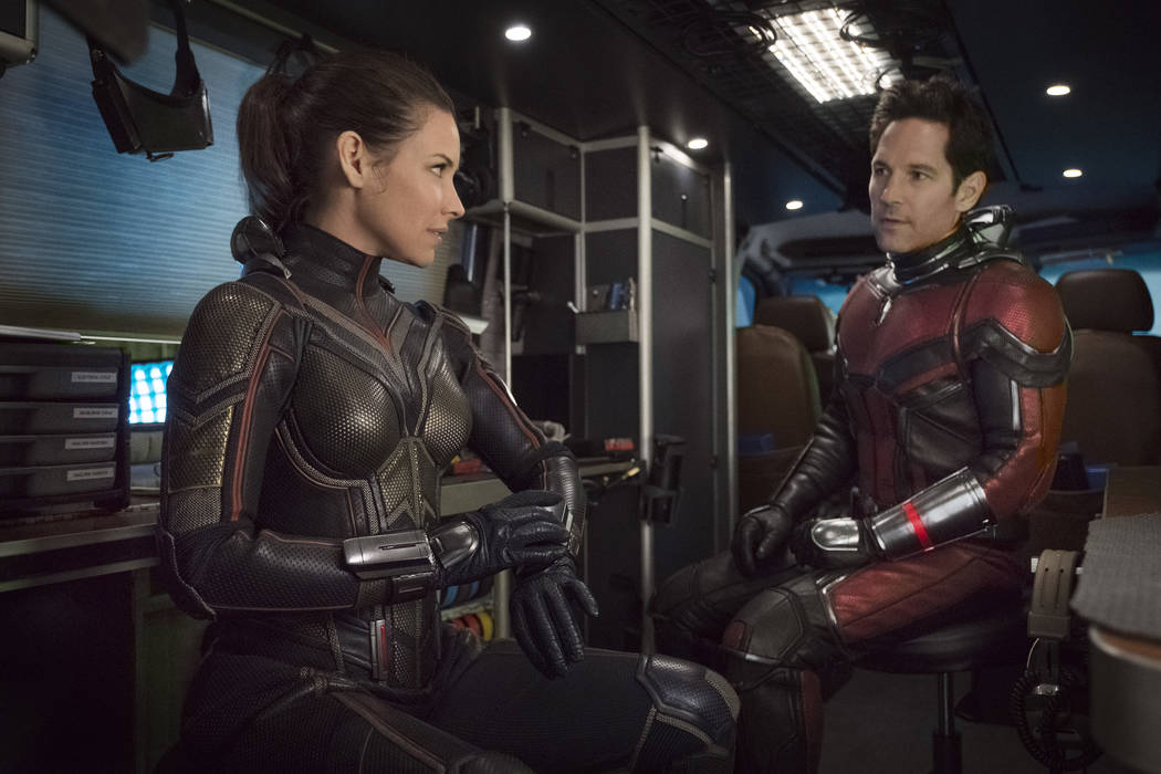 The Wasp/Hope van Dyne (Evangeline Lilly) and Ant-Man/Scott Lang (Paul Rudd) ..Photo: Ben Rothstein..©Marvel Studios 2018