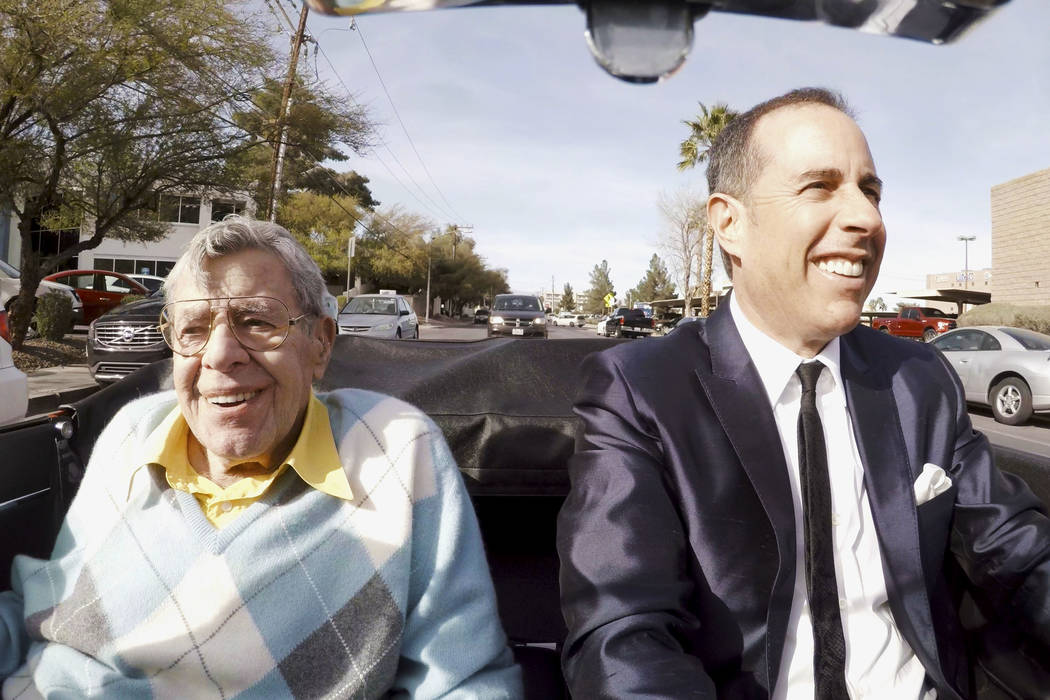 """Jerry Lewis and Jerry Seinfeld go for a drive in """"Comedians in Cars Getting Coffee."""" (Netflix)"""