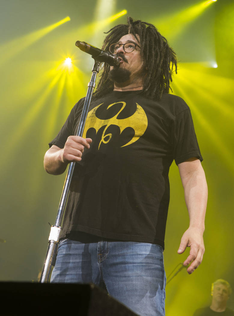 Adam Duritz with Counting Crows performs during the Matchbox Twenty & Counting Crows: A Brief History Of Everything Tour at Lakewood Amphitheatre on Sunday, August 13, 2017, in Atlanta. (Photo ...