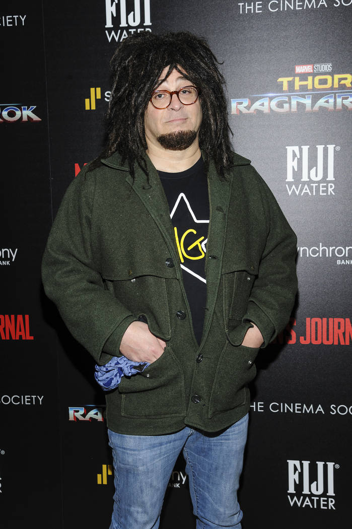 "Adam Duritz attends a special screening of Marvel Studios' ""Thor: Ragnarok"", hosted by The Cinema Society, at The Whitby Hotel on Monday, Oct. 30, 2017, in New York. (Photo by Christophe ..."
