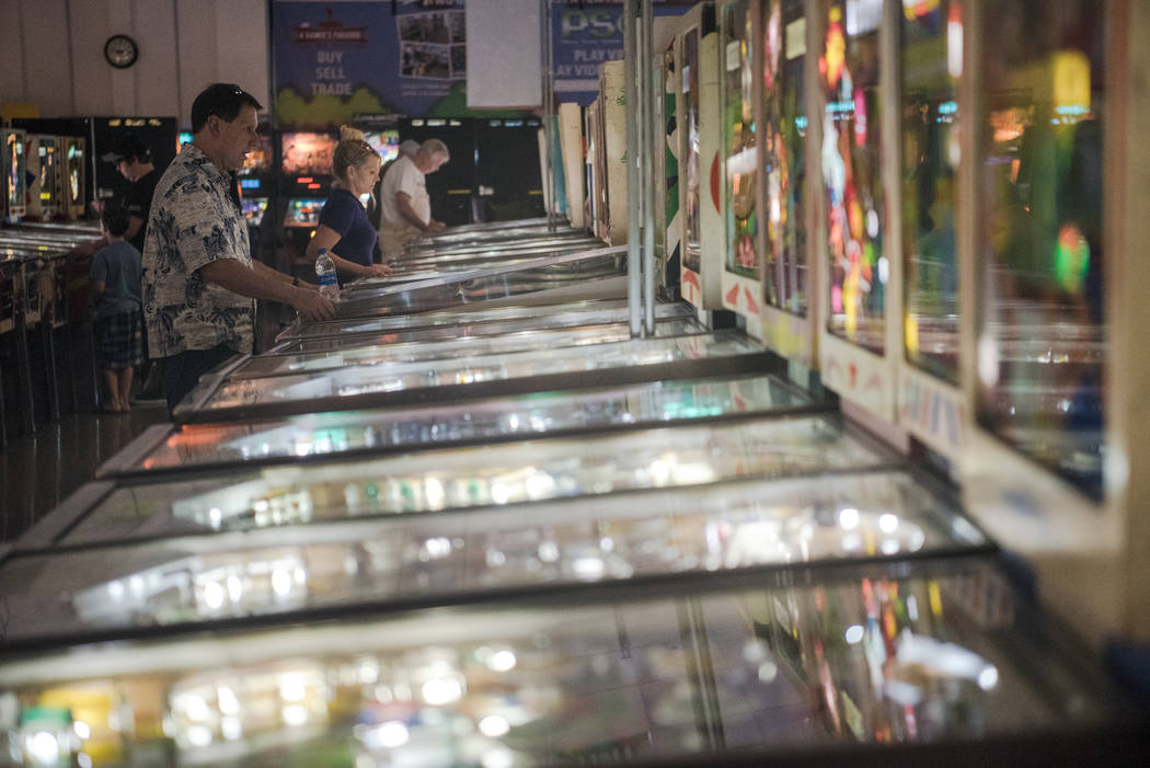 California resident Tim Jacques begins a game of pinball at Pinball Hall of Fame on Tuesday, Aug. 22, 2017, in Las Vegas. Morgan Lieberman Las Vegas Review-Journal