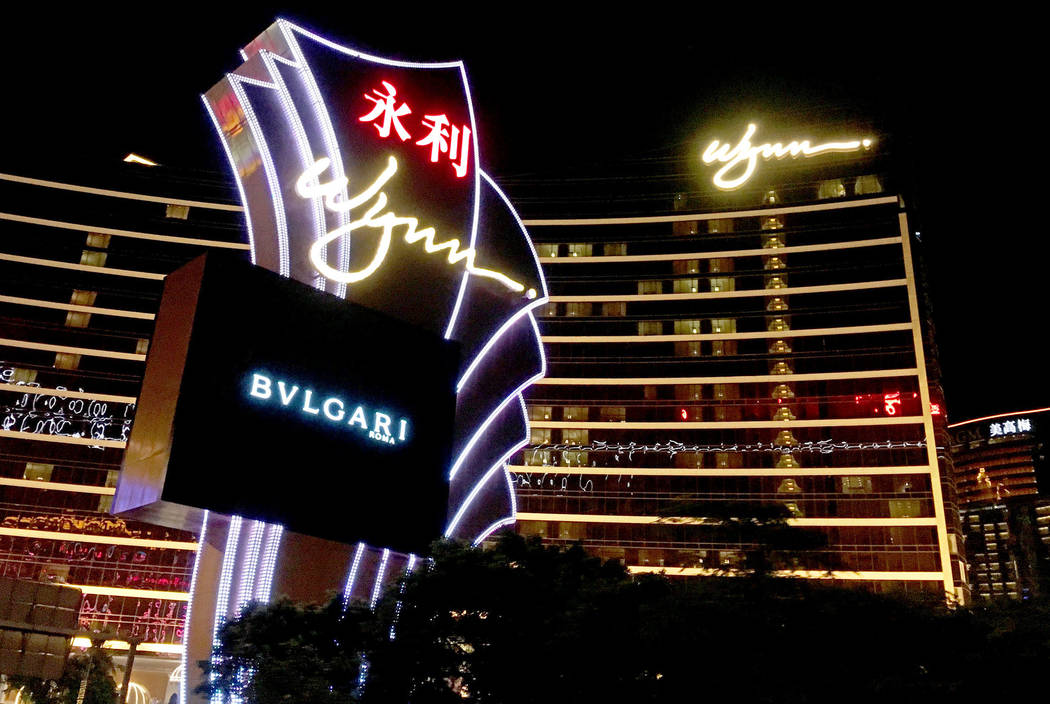 Wynn Macau hotel-casino in Macau, Friday, Jan.12, 2018. Chitose Suzuki Las Vegas Review-Journal
