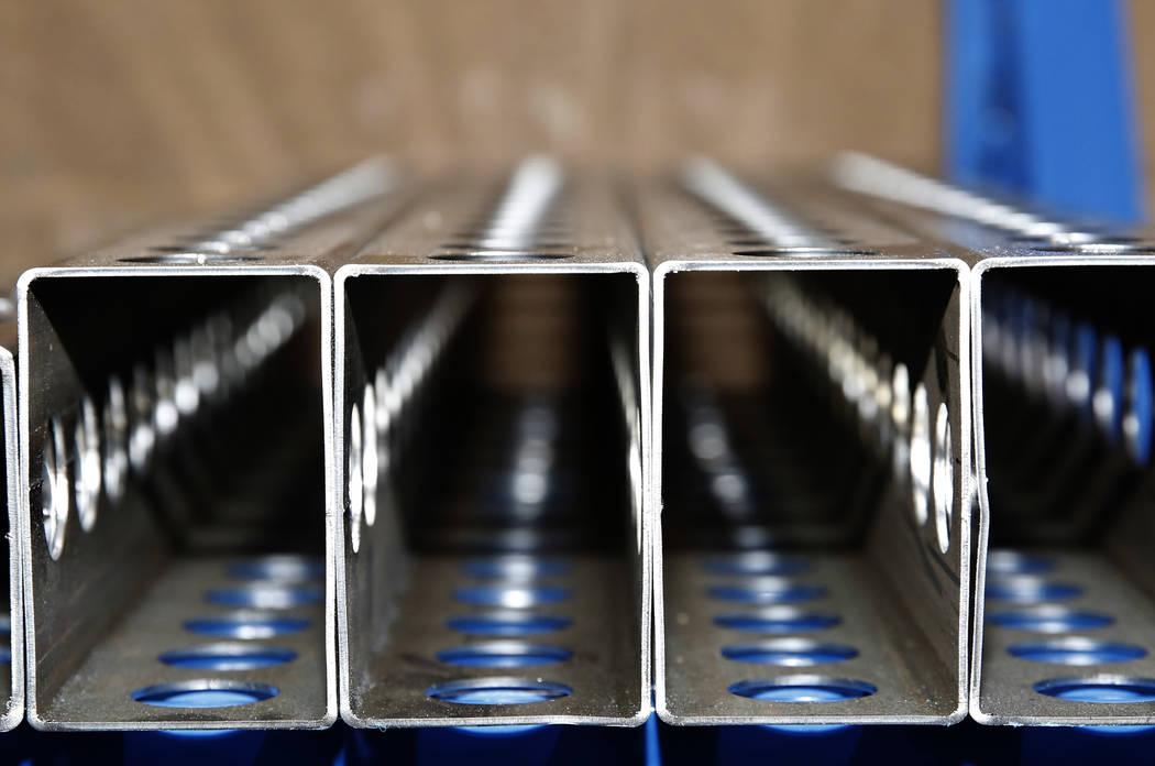 Various cuts of metal are displayed at Precision Tube Laser, LLC, on Wednesday, June 20, 2018, in Las Vegas. Bizuayehu Tesfaye/Las Vegas Review-Journal @bizutesfaye