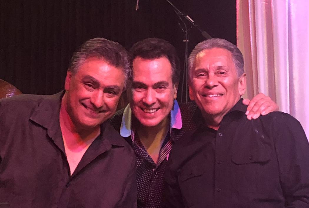 Lenny Lopez, Jerry Lopez and Cleto Escobedo Jr. of Cleto & The Cletones are shown after the Santa Fe & The Fat City Horns show on Monday, July 3, 2018. (John Katsilometes/Las Vegas Review-Journal) ...