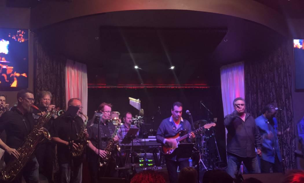 Santa Fe & The Fat City Horns perform at the Copa Room at Bootlegger Bistro on Monday, July 2, 2018. (John Katsilometes/Las Vegas Review-Journal).