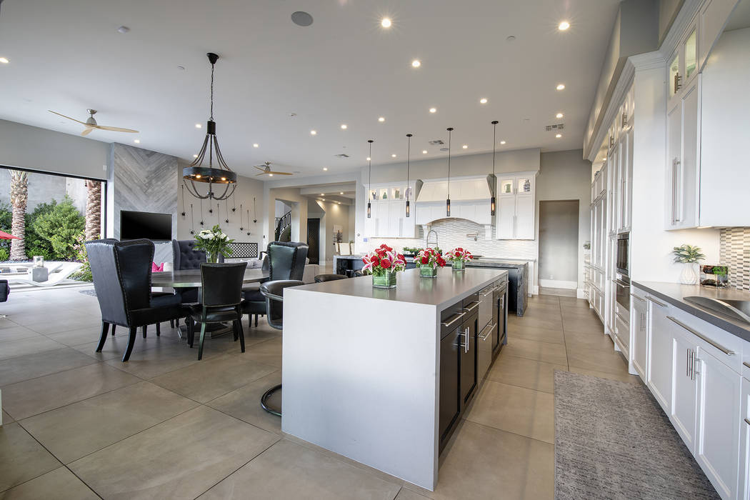 Special lighting is used in the kitchen. (Sotheby's International Realty)