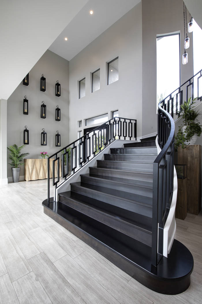 The staircase leads to the bedrooms upstairs. (Sotheby's International Realty)