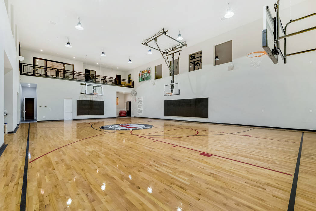 The Basketball Court Sotheby S International Realty Las Vegas Review Journal