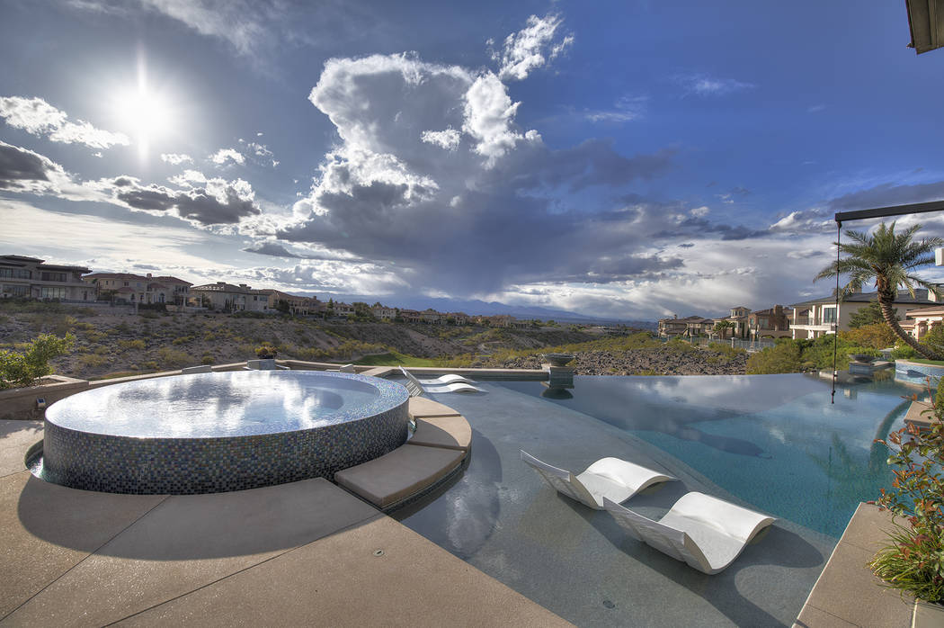The backyard has a resort feel. (Sotheby's International Realty)