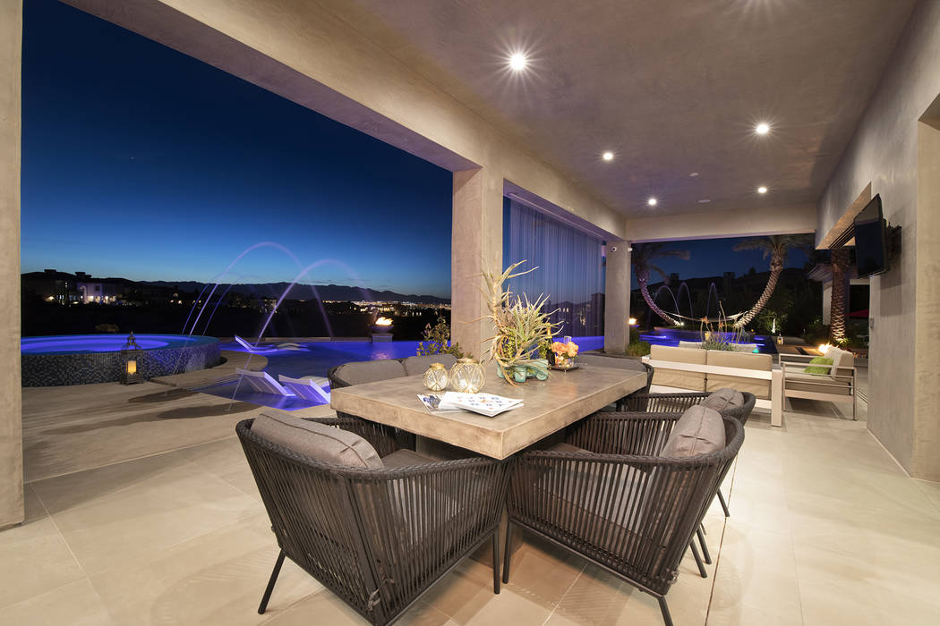 The backyard patio. (Sotheby's International Realty)