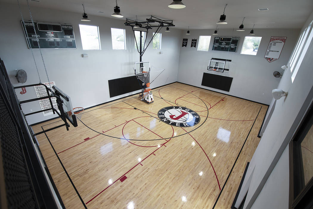 The Basketball Court Is One Of The Wow Features Of The Home Sotheby S International Realty Las Vegas Review Journal