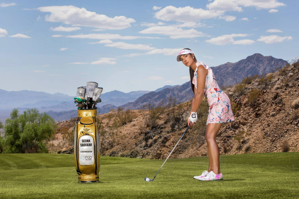 Former UNLV golfer Seema Sadekar is known as the Golf Fashionista and co-hosts the Mike Woodson Celebrity Invitational this weekend. Photo courtesy Seema Sadekar.