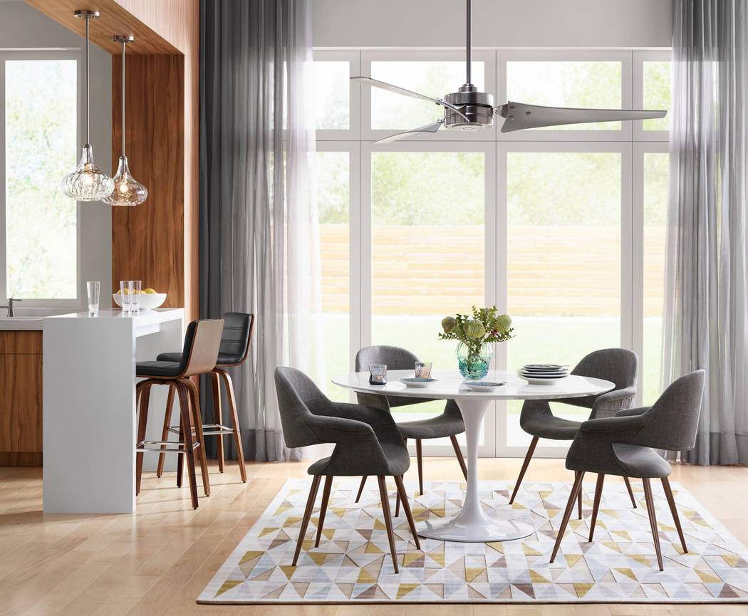 The Emerson Loft ceiling fan offers a cool, contemporary look for larger rooms. (Lamps Plus)