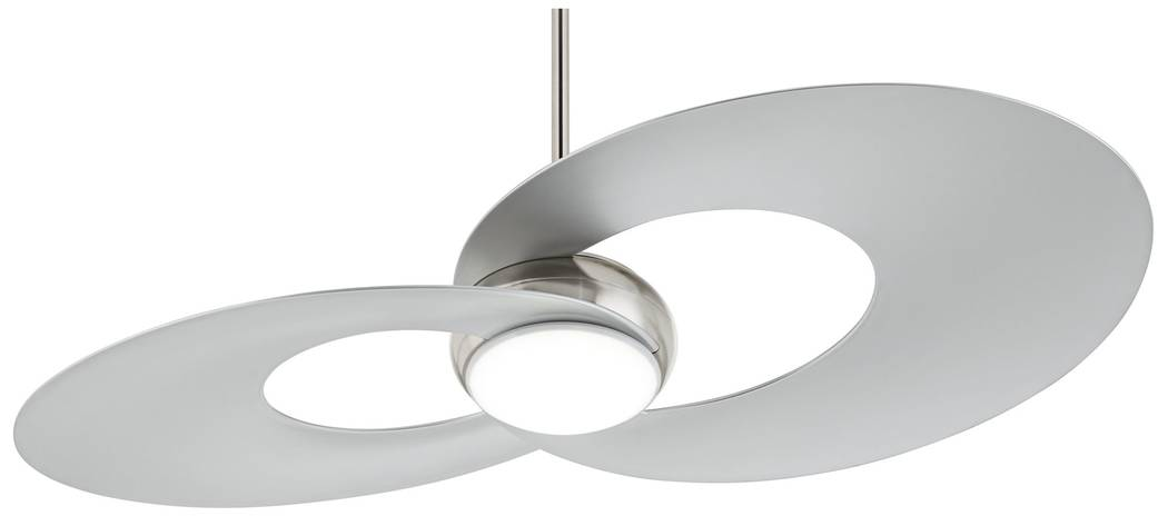 A hand-held remote control makes it easy to control this energy-efficient LED ceiling fan. The Innovation LED ceiling fan from Possini Euro Design offers an updated style and gentle breeze. (Lamps ...