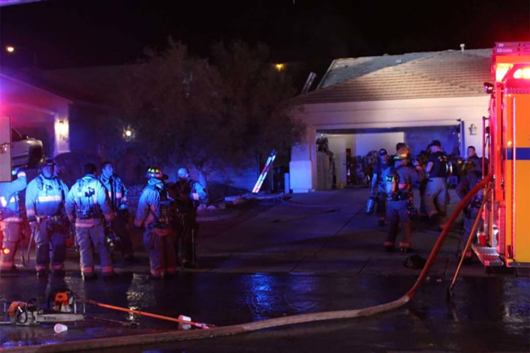Two people were displaced after the fire