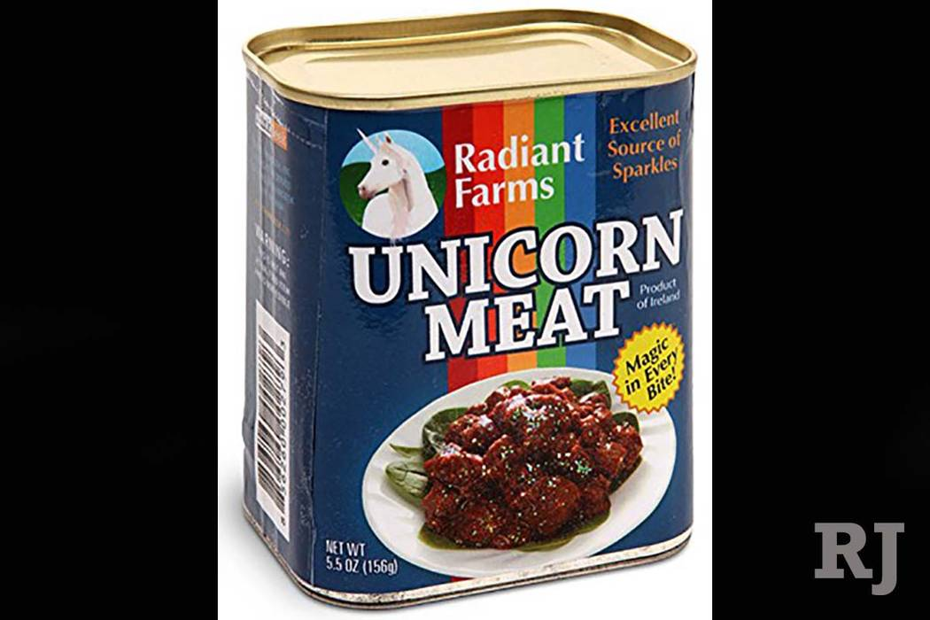 There are a lot of unicorn products on Amazon, but a 5.5-ounce can of unicorn meat is one of the oddest. (Amazon)