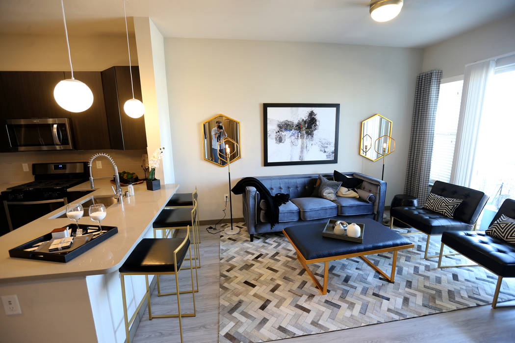 The Bamboo floor plan at Lotus apartment complex on Spring Mountain Road near Valley View Boulevard Monday, May 25, 2018. K.M. Cannon Las Vegas Review-Journal @KMCannonPhoto