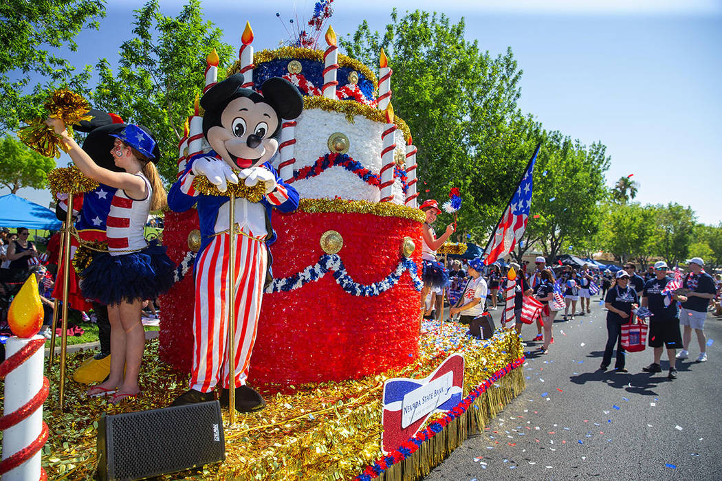 The parade had more than 70 entries this year. (Summerlin Council – Studio J, Eric Jamison)