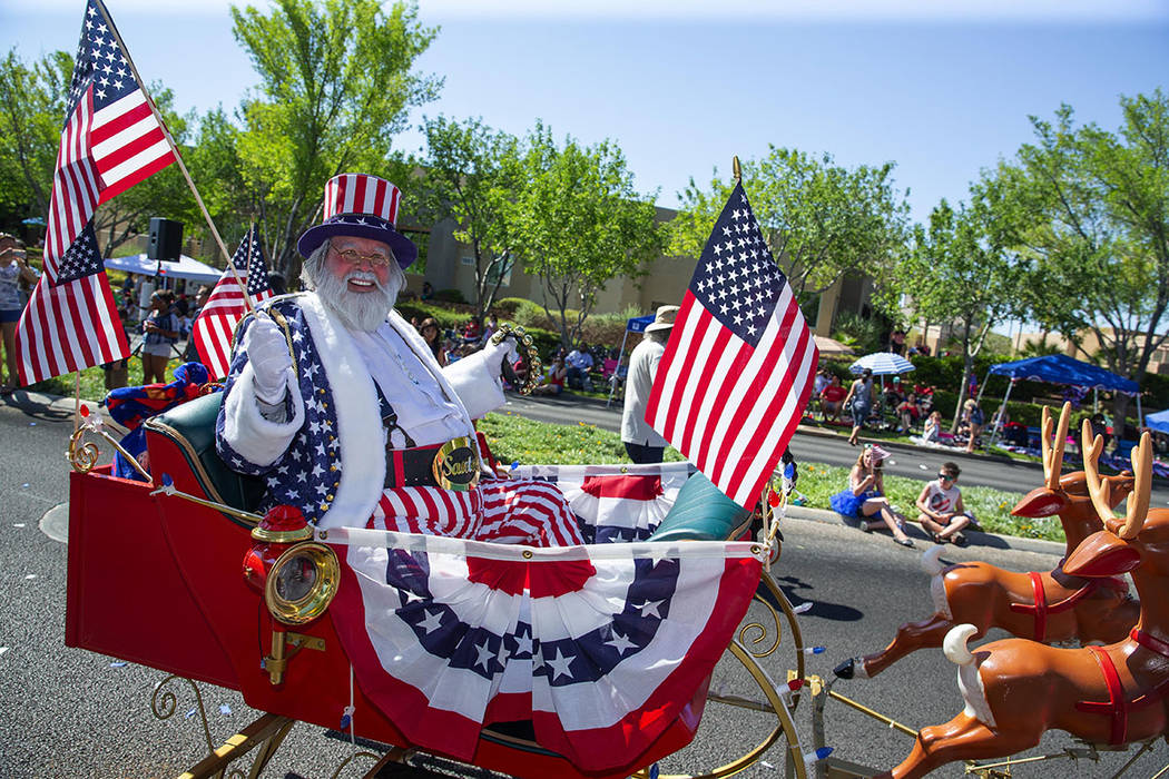 The annual Summerlin Council Patriotic Parade drew more than 40,000 people Wednesday. (Summerlin Council – Studio J, Eric Jamison)