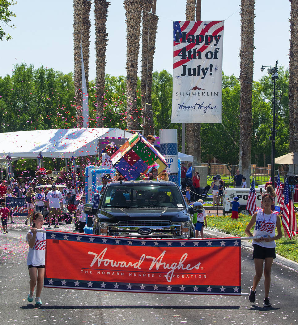 The Howard Hughes Corp., developer of Summerlin, was represented in the parade. (Summerlin Council – Studio J, Eric Jamison)