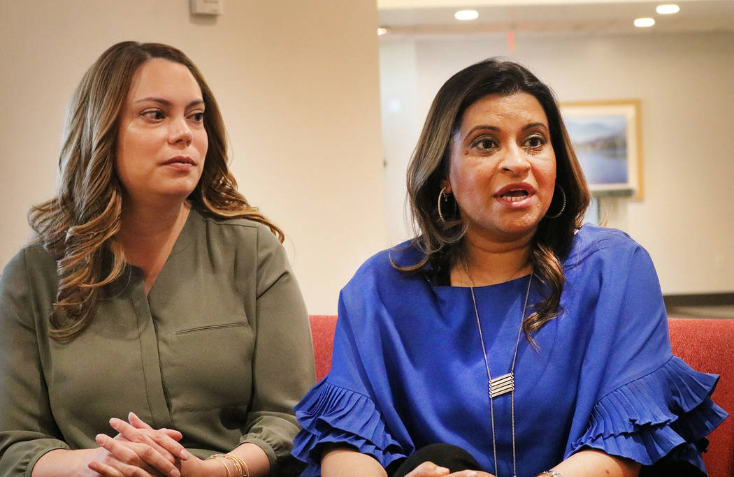 Pediatrics clinical pharmacist Andria Peterson, left, and Dr. Deepa Nagar, medical director of the neonatal intensive care unit at Dignity Health St. Rose Dominican Hospital Siena Campus in Hender ...