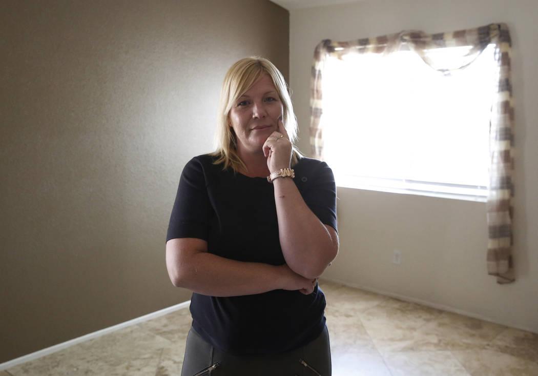 Jennifer Stanert poses for photo at her Las Vegas home on Thursday, June 28, 2018. Bizuayehu Tesfaye/Las Vegas Review-Journal @bizutesfaye