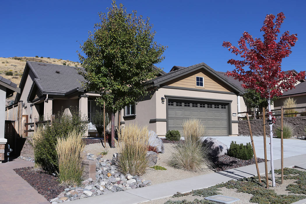 Stephen Paddock's home sits empty, west of Reno in Verdi, on Oct. 6, 2017. (Cathleen Allison/Las Vegas Review-Journal)