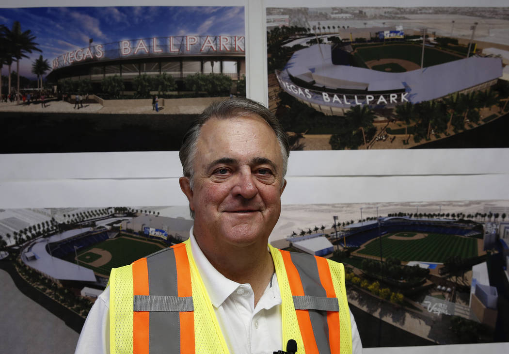 Las Vegas 51s President Don Logan poses for photo at the site of the new 51s ballpark on Tuesday, June 19, 2018, in Las Vegas. Bizuayehu Tesfaye/Las Vegas Review-Journal @bizutesfaye