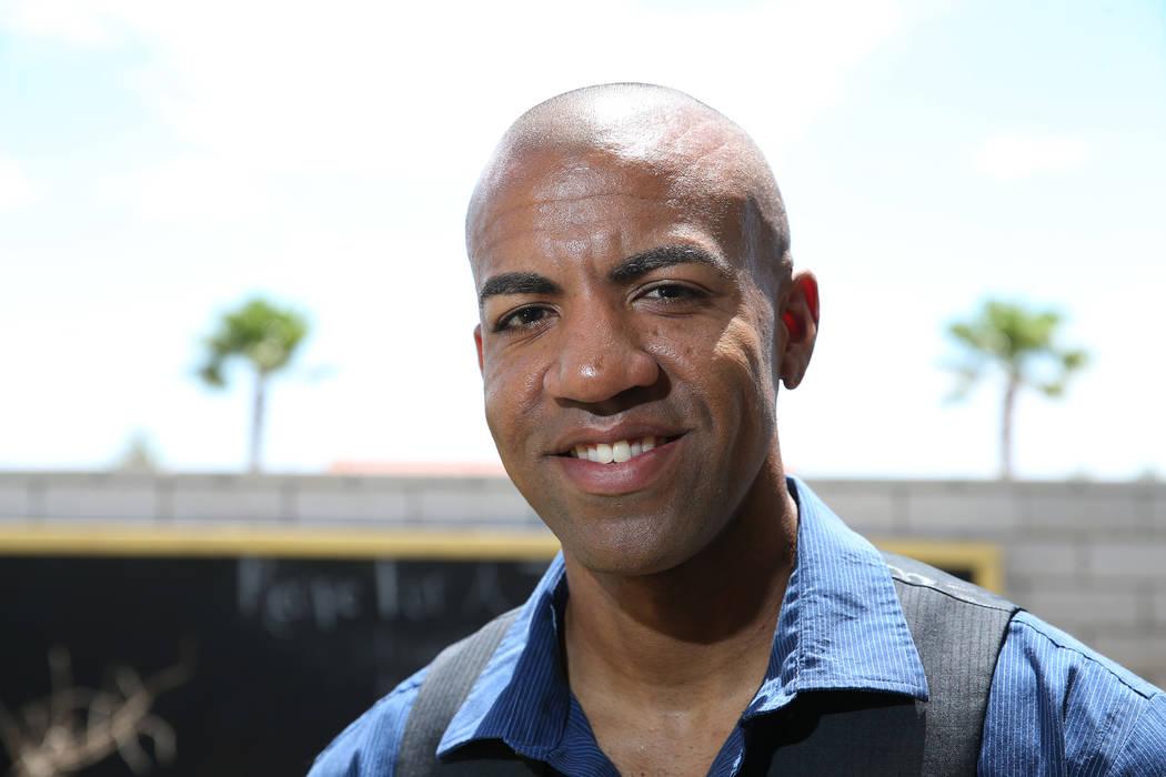 Las Vegas police officer David Anthony, who was named PETA's Sexiest Vegan Next Door for 2018, at his home in North Las Vegas, Wednesday, July 11, 2018. Erik Verduzco Las Vegas Review-Journal @Eri ...