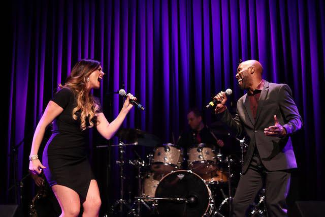 Ashley Fuller and Eric Jordan Young sing a duet in Brunch to Broadway at Red Rock Resort, Jan. 14, 2018.(Tsubasa Otomo/SPECIAL)